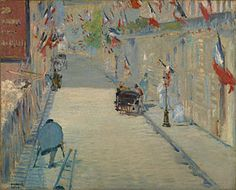 OPENING CEREMONIES. The Rue Mosnier with Flags, Édouard Manet, 1878
