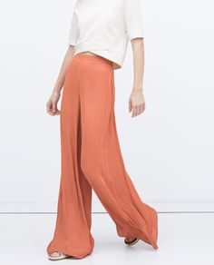 STRAIGHT CUT TROUSERS-View all-Trousers-WOMAN   ZARA United States