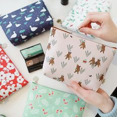 Indigo Willow illustration pattern carry all pouch by Indigo. The Willow carry all pouch is a beautiful and adorable zipper pouch. Makeup Case, Zipper Pouch, School Bags, Carry On, Sewing Projects, Coin Purse, Stationery, Wallet, Occasion Dresses