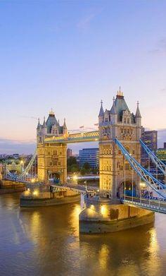 Tower Bridge - London, England-- definitely one of my favorite places in London. Beautiful.