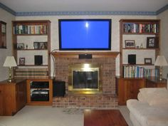 Is your TV mounted above a fireplace? | TV Room | Pinterest ...
