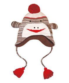 Look what I found on #zulily! Brown Sock Monkey Earflap Beanie - Women #zulilyfinds