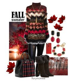 """""""Fall Sweater"""" by florymcintee ❤ liked on Polyvore featuring Junya Watanabe, Alexandre Birman, Jean-Paul Gaultier, Victoria Beckham, 1st & Gorgeous by Carolee and Gucci"""