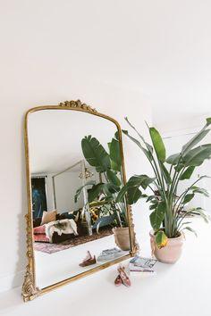 vintage-inspired floor mirror