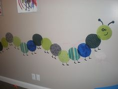 Use liquid starch to decorate walls with fabric decals.  Removable!