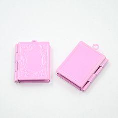 Pendentifs médaillon, cadre de photo, rose