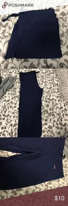 Unisex Cherokee scrub pants Unisex Cherokee scrub pants. Navy blue size small. Straight leg. Washed once never been worn. Cherokee Pants Straight Leg