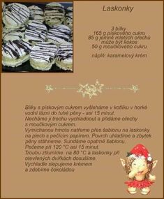 Christmas Candy, Christmas Baking, Christmas Cookies, Czech Recipes, Baking Recipes, Sweet Recipes, Sweet Tooth, Deserts, Food And Drink