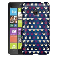 Nokia Lumia 1320 Patriotic White and Red Stars on Blue Case