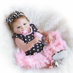 Full Body Silicone Reborn Baby Doll Toys Lifelike NPKCOLLECTION Victoria Baby-Reborn Girls Baby Doll Child Brinquedos Bathe Toy