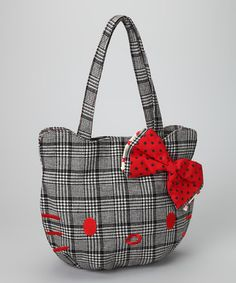 Hello Kitty Black & White Plaid Bag