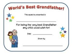 World S Best Dad Award Printable Certificate Along With