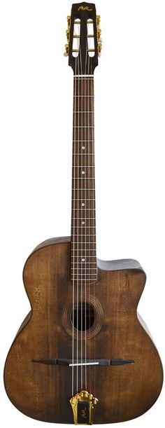 "Manuel Rodriguez ""Maccaferri"" style Walnut Guitar --- https://www.pinterest.com/lardyfatboy/"