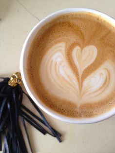 Coffee: Latte from Coffee Commissary from Cupcakes and Cashmere