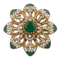 Turkish Ottoman Hurrem Sultan Flower emerald brooch pinhttps://www.etsy.com/listing/222639492/turkish-ottoman-hurrem-sultan-flower?