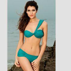 bikini de estilo sexy y elegante de dos piezas color verde