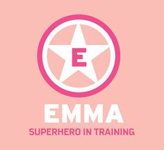 Monogram Girl Name SUPERHERO in Training Wall Decal GIRLS Initial and Name Personalized Removable Wall Art Vinyl Bedroom Decor Star
