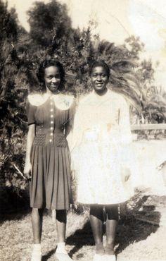 Delores & Cousin  1940's  [Mouton Family Album]  ©WaheedPhotoArchive, 2013