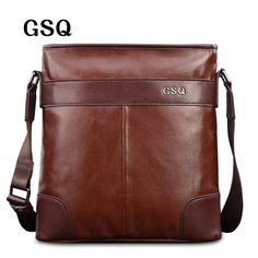 5b3195fa4c56 GSQ Fashion Genuine Leather Men Bag Hot Sale Men s Shoulder Bag Leather  Business Briefcase Crossbody Messenger Bag For Men G1685-in Crossbody Bags  from ...