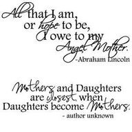 Mother Daughter Quotes For Tattoos.....not a mommy yet but idea for the future