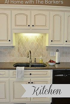 traditional kitchen tour with painted cabinets, home decor, kitchen backsplashes, kitchen cabinets, kitchen design, painting