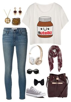 """Nutella Belly"" by abbysm17es ❤ liked on Polyvore featuring Frame Denim, Converse, Ted Baker, Sole Society, Sif Jakobs Jewellery, White House Black Market and Nikko"