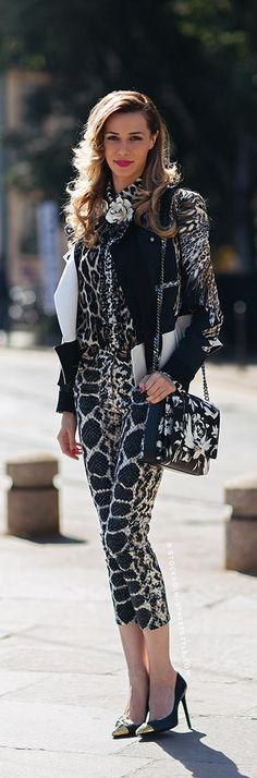 Black and White Patterns   Street Style  