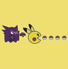 LOL not exactly how i remember Pacman but that's close enough #Pacman x #Pokemon