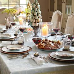Williams and Sonoma ideas for Easter table decor and recipes! Bunnies everywhere! :)