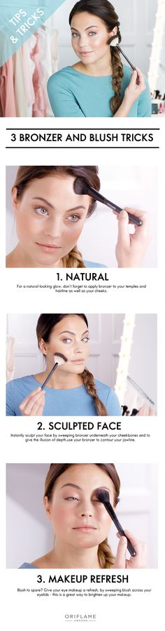 When used correctly, bronzer and blush will sculpt your face and give you a sun…