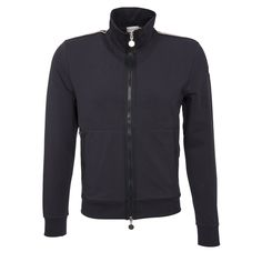 Moncler Sweatjacke in Marine Moncler, Slim Fit, Athletic, Zip, Jackets, Fashion, Mandarin Collar, Sporty, Cotton