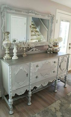 35 Shabby Chic Living Room To Not Miss Today - Advanced Interior Designs Style Shabby Chic Bedrooms, Shabby Chic Homes, Shabby Chic Furniture, Bedroom Furniture, Vintage Furniture, Vintage Decor, Furniture Dolly, Repurposed Furniture, Shabby Chic Dressers