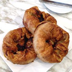 Giant berry-filled Kouign Amann (about in diameter) at b. patisserie in Pacific Heights, SF. Kouign Amann, Pacific Heights, Bagel, Pastries, Berry, Meat, Chicken, Food, Tarts
