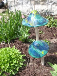 glass garden mushrooms - Google Search