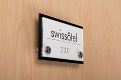 Set of 2 - Door Sign for Wall Mount with 2 Stainless Steel Standoffs, Displays 6 x 3-Inch Graphics, Do-It-Yourself Solution, Pre-Scored Fros...