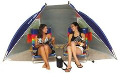 Rio Beach Portable Sun Shelter from Rio . Give yourself a rest from the sun with the Rio Beach Portable Sun Shelter, great for the beach, the backyard, or bringing along on car camping trips. It features an sun protection for up to 8 hours in the sun. Hiking Tent, Tent Camping, Camping Gear, Camping Stuff, Beach Tent, Beach Pool, Summer Beach, Beach Party, Summer Fun