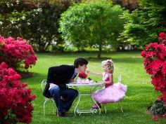 father daughter tea party, so adorable! I hope my future husband does this someday! Daddy Daughter Photos, Father Daughter, Little Girl Photos, Girls Tea Party, Tea Parties, Good Daddy, Daddys Little Girls, Lil Sis, Fathers Love