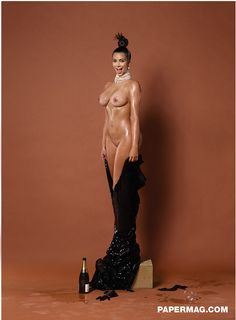 Here Is Another Photo Of Kim Kardashian In Paper Magazine, This Time With Full Frontal