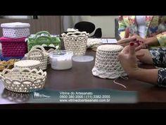 Mulher com 05082014 Cachepo Croche Endurecido por Carmem Freire Parte 1 - YouTube