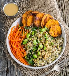 Enlightened Miso Bowl by Angela Liddon from Oh She Glows/ for low fodmap use only green part of green onions Veggie Recipes, Whole Food Recipes, Vegetarian Recipes, Cooking Recipes, Healthy Recipes, Diet Recipes, Clean Eating, Healthy Eating, Healthy Food