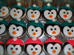 Penguin cupcakes I made for my best friend Tena's Birthday!!