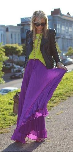 Violet summer maxi skirt ...