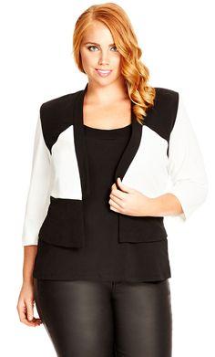 City Chic So Chic Jacket - I want! - Women's Plus Size Fashion City Chic - City Chic Your Leading Plus Size Fashion Destination #citychic #citychiconline #newarrivals #plussize #plusfashion