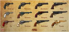 All guns blazing by mkozmon on DeviantArt Rifles, Western Games, West Map, Free Mind, Old West, Best Games, Game Design, Cartoon Art, Hand Guns