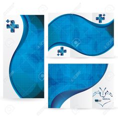 Pops of a bright blue color can make a medical brochure stand out.