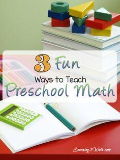 Looking for fun preschool activities? Here are 3 fun ways to teach preschool math