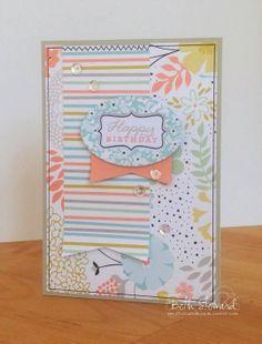 Happy Birthday card @Coral Hinz' Up!  @Papertrey Ink