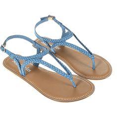 Accessorize Apollo Plaited Sandals found on Polyvore