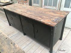 Industrial Industrial counter old workbench - Industriële meubels - Industrieel - Burbri