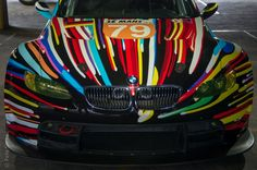The 17 BMW 'Art Cars' (one by Andy Warhol!) currently on display in a disused London car park...